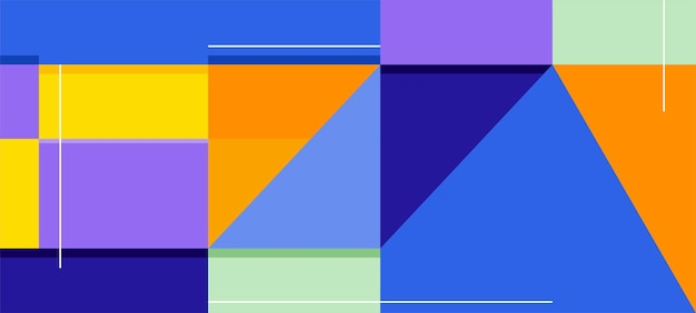 Colorful mosaic abstract banner vector design