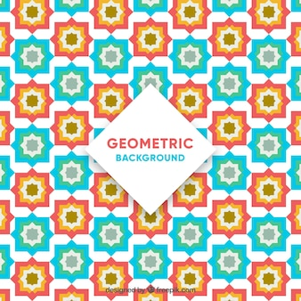 Colorful mosaic background in flat design