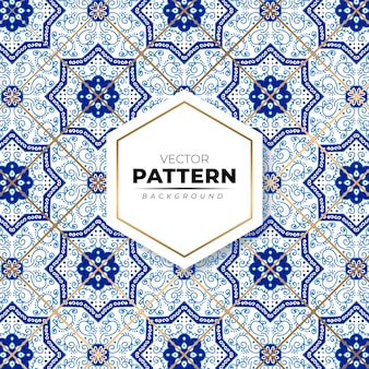 Colorful mosaic moroccan seamless pattern background