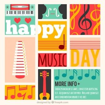 カラフルな音楽の日カード