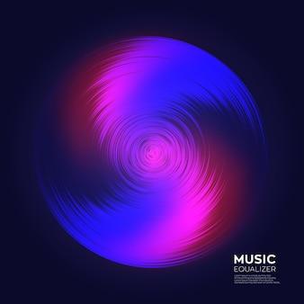 Красочный музыкальный эквалайзер на темном фоне