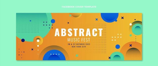 다채로운 음악 축제 페이스북 커버
