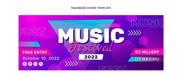 カラフルな音楽祭のfacebookカバー