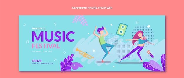 Copertina facebook del festival musicale colorato