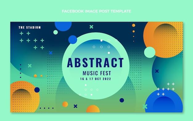 Post di facebook del festival musicale colorato