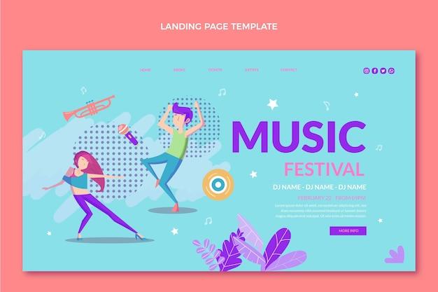 Pagina di destinazione del festival musicale colorato