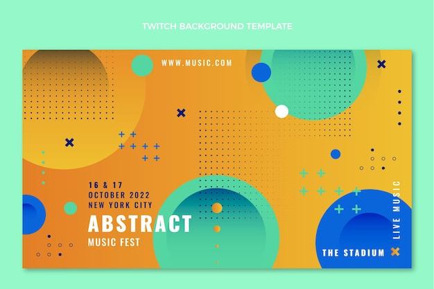 Colorful music festival twitch background