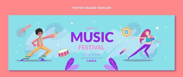 Intestazione twitter del festival musicale colorato