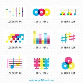 Colorful music logos