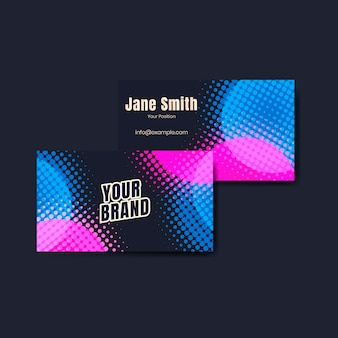 Colorful name cards set