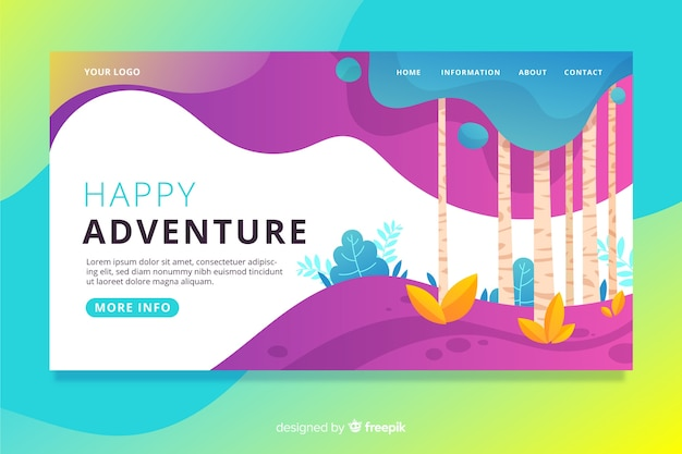 Colorful nature landing page