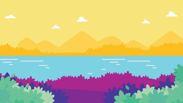 カラフルな自然の風景の背景