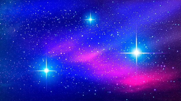 Colorful nebula in space background.