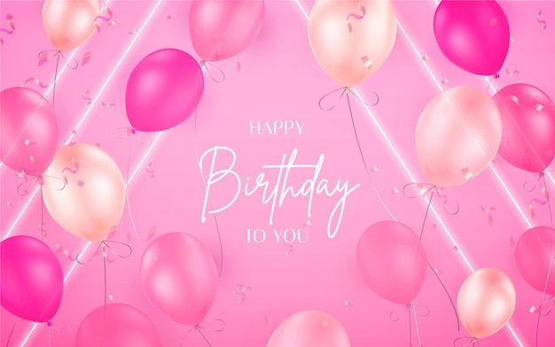 Colorful neon birthday background