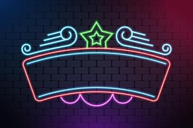 Design del telaio colorato al neon