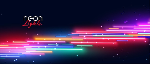 Colorful neon led light effect background Free Vector
