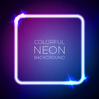 Colorful neon light banner