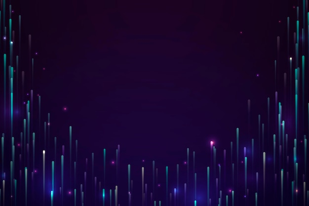Colorful neon meteor background design