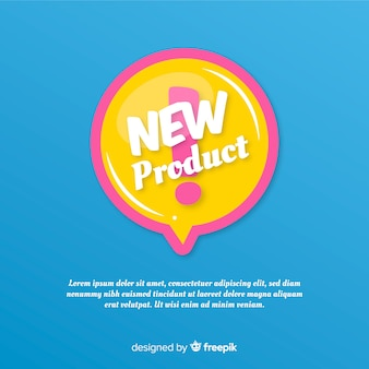 Colorful new product composition with flat design
