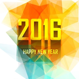 Colorful new year 2016 card