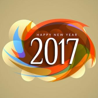 Colorful nuovo anno 2017 di fondo moderno