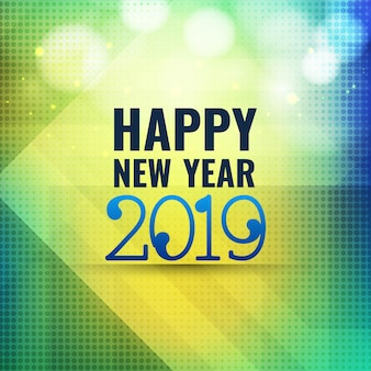 Colorful new year 2019 celebration background vector