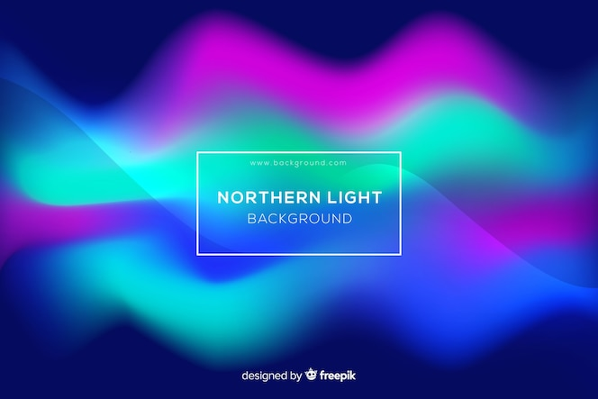 Colorful northern lights abstract background