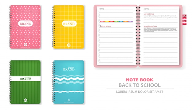 Colorful note books
