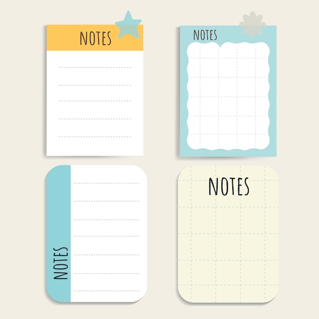 Colorful notepad set