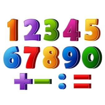 Красочные номера и математические операции