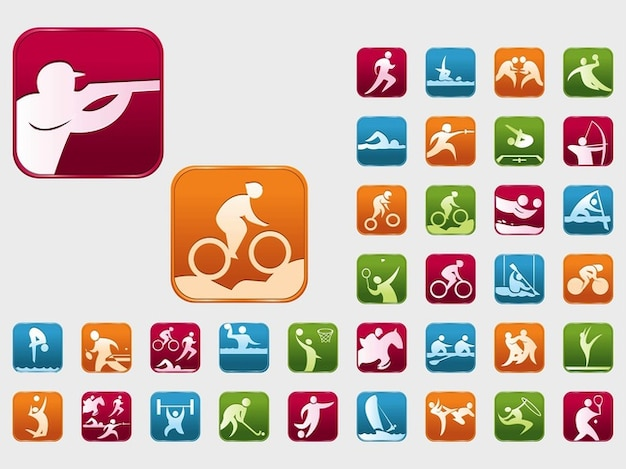 Colorful olympic sports event vectors