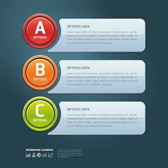 Colorful options banner template.