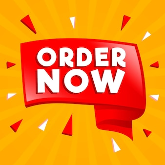 Colorful order now banner
