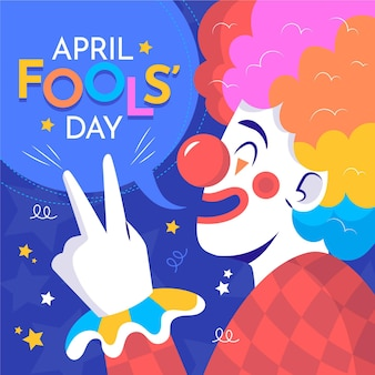 Colorful organic flat april fools' day illustration
