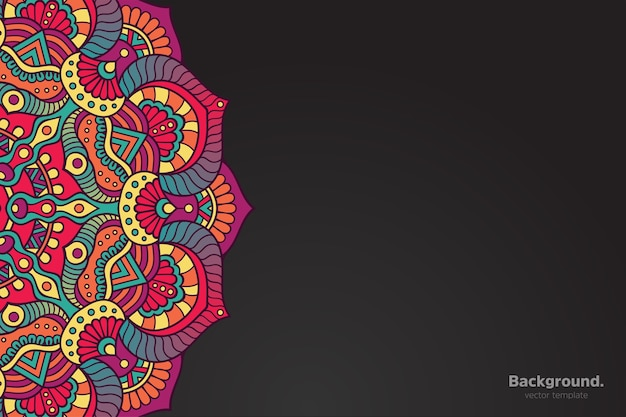 Colorful oriental mandala background