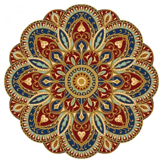 Colorful oriental mandala.