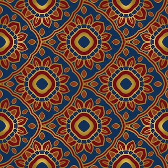 Colorful oriental ornament seamless pattern of mandalas.