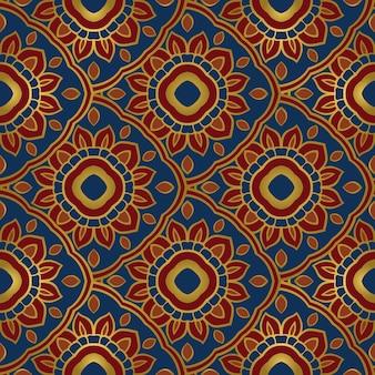 Красочный восточный орнамент бесшовные модели мандал.