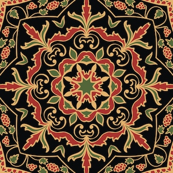 マンダラのカラフルな東洋飾りシームレスパターン。