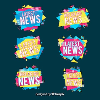 Colorful origami latest news banner pack