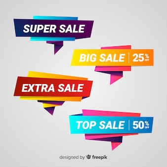 Colorful origami sale banner pack