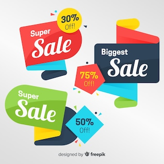 Colorful origami sales banner pack