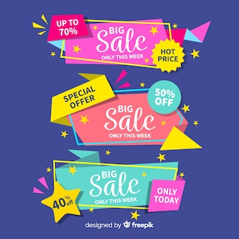 Colorful origami sales banners