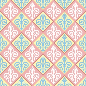 Colorful ornament seamless pattern fabric textile wallpaper.