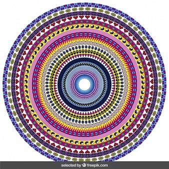 Красочные декоративные круг
