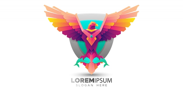 Colorful osprey bird logo template
