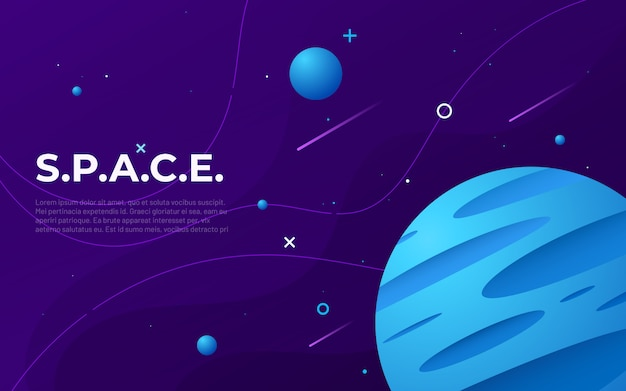 Colorful outer space abstract background