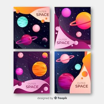 カラフルな宇宙背景