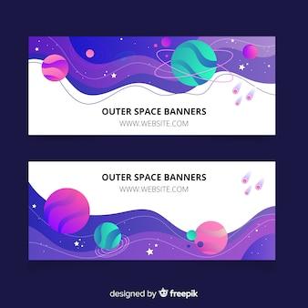 Красочный баннер космического пространства