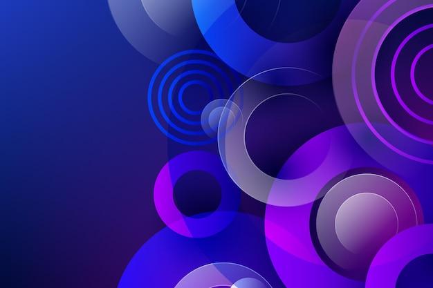 Красочный фон перекрывающихся форм